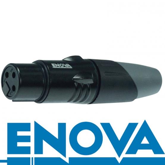 ENOVA XLR F auf Klinken 2 pin Kabel Analog & Digital  4 m