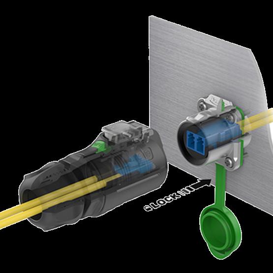 CNLINKO Glasfaser Kabel  LP-24 LWL LC fiber Duplex plug with Singlemode 3 m