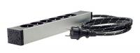 inakustik Referenz Netzleiste AC-1502-P6,Schukostecker, 3m Kabel