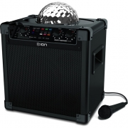 Ion Party Rocker Plus, Rechargeable Speaker wiht Spinning Party Lights / Bluetooth