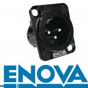 ENOVA XLR 3 pin männlicher Einbaustecker Lötversion