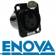 ENOVA XLR 3 pin weibliche Einbaubuchse Lötversion