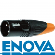 ENOVA Outdoor XLR 3 pin IP67 männlicher Metallstecker Lötversion