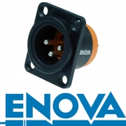 ENOVA Outdoor XLR 3 pin IP67 männlicher Einbaustecker Lötversion