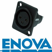 ENOVA Outdoor XLR 3 pin IP67 weibliche Einbaubuchse Lötversion