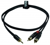 ENOVA 1 m 3.5 mm Jack stereo - Cinch Kabel male schwarz & rot