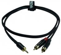 ENOVA 5 m 3.5 mm Jack stereo - Cinch Kabel male schwarz & rot