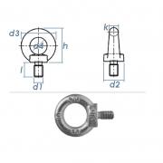 M10 Rinschraube/Fangseilöse DIN580 Stahl verzinkt (1.Stk)