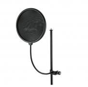 K&M 23966 schwarz - Popschutz 20cm